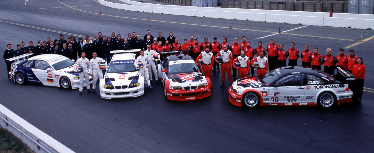 E46 M3 GTR lineup from 2001
