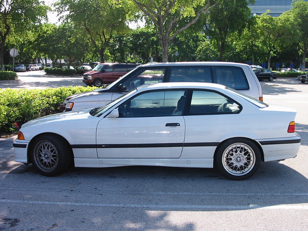 E36 325is M-Technic. I spotted this car in a parking lot in Ft Lauderdale, FL. The wheels were a dead giveaway to me, even from a few rows over. One of the best looking wheels ever!