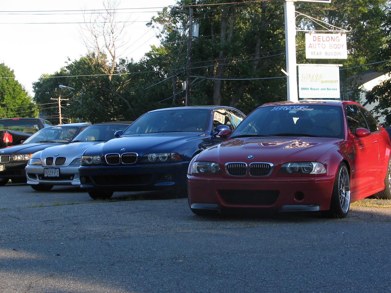 BMW line-up in front of Turner Motorsport