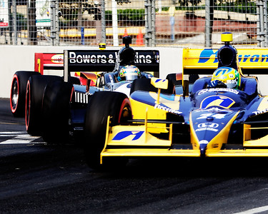 alex tagliani (#77) at the izod indycar race at the inaugural baltimore grand prix on 2-4 september 2011