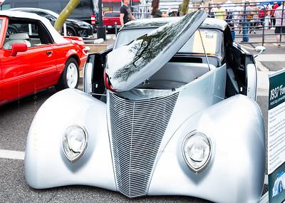 Classic car 37 Ford Silver 6544