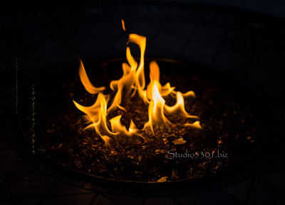 Flame at car show 4927