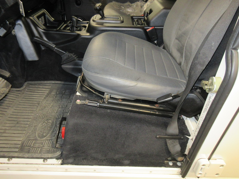 Defender battery box access