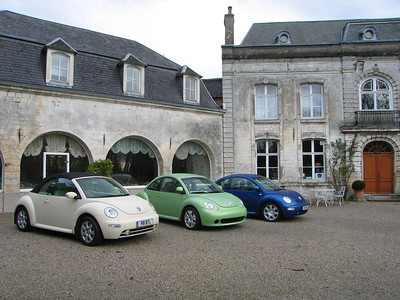 Outside the Chateau de Cocove near Calais