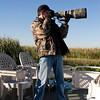"""2008, Florida auf einem Boot bei der Vogelfotografie in Tarnkleidung.... eigentlich unnütz, weil die da eh """"zahm"""" sind"""