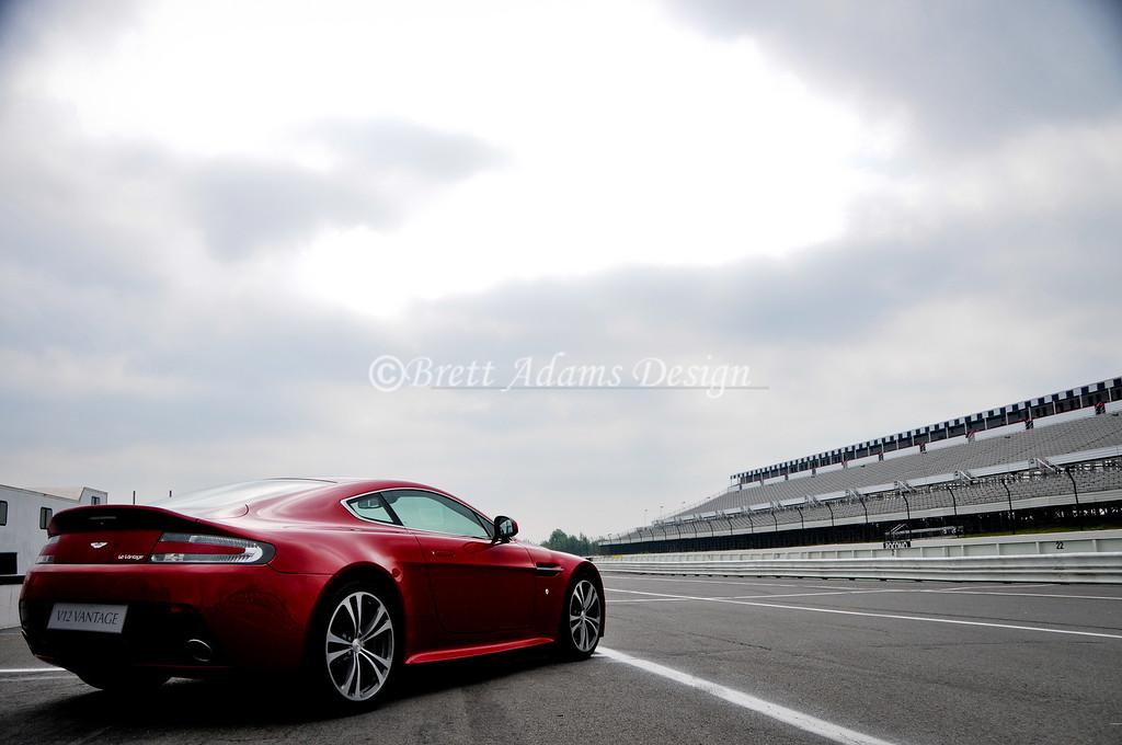 Aston Martin V12 Vantage @ Pocono Raceway<br /> <br /> Noteworthy: Photo used for dealer marketing of the Vantage V12