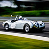 1950's Jaguar XK140 at speed