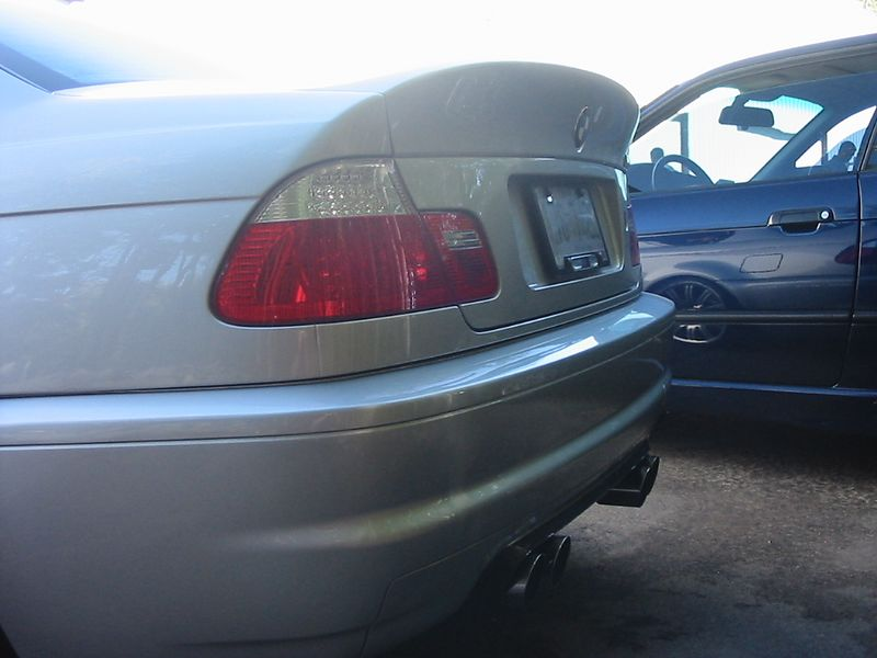 E46 M3 with CSL trunklid and Supersprint mufflers