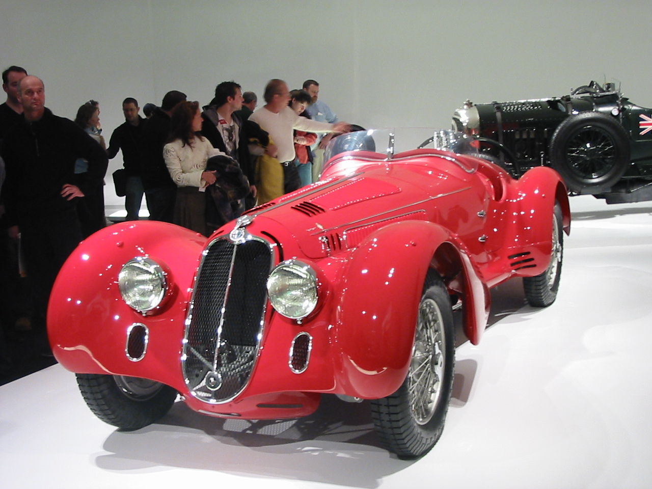 Alfa Romeo 8C2900 B Mille Miglia. This particular car finished second in the 1938 Mille Miglia race and then was sold to someone in California where it was raced successfully by Phil Hill.