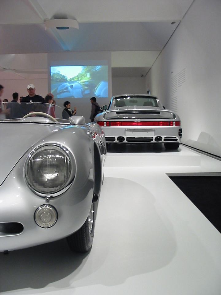 Porsche 550 Spyder and 959