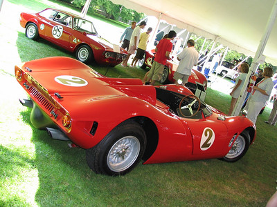 Bizzarrini P538 Sports Racer. Intended for Le Mans, rule changes prevented it from competeing and it was tucked away for a couple of decades until making its show debut in 1990.