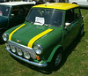 Mini with John Deer paint job and badges.
