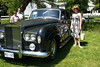 Andrea with Rolls Royce Silver Cloud. We had a white one like this for our wedding car.