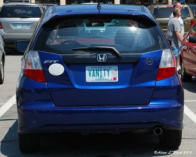 "Well, they are called ""vanity"" plates"