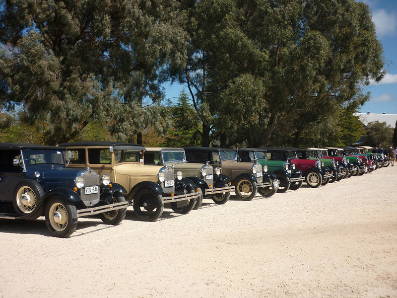 Cars lined up at Seven Hills Cellars