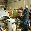 The workshop visit was to Graeme Goode's Restoration Workshop in Clare.  Graeme has been a vintage and classic car restorer for some 26 years.  He provides professional timber, panel, painting and upholstery services.