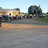 Cars in front of shearing shed at Bungaree