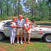 Barbara Harris with her oldest sister June and her husband Bertie. Keiths car.