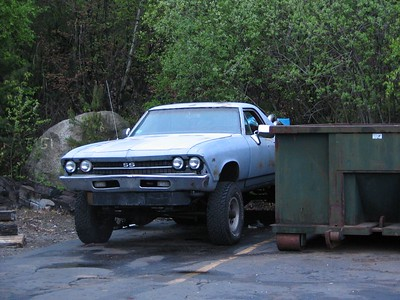 Salem, MA. No it's not a dumpster -- it's an El Camino Denali SS!