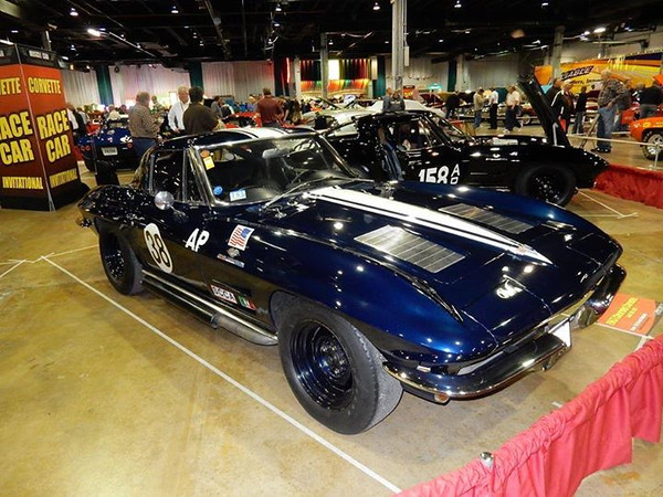 # 2 - 1963 ZO6, Sebring FIA, National Corvette Museum, Grady Davis Gulf Oil driven by Don Yenko display at Chicago Muscle Car Show 2014, donated by the late Leon Hurd