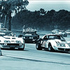 # 5 - 1973 IMSA Dave Heinz & Jerry Thompson, ex Rebel Corvette at Sebring leads Ton DeLorenzo