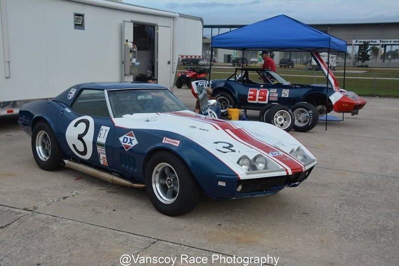 # 3 - 1968 IMSA,  Daryl Tyson replica ex Dave Morgan & Hap Sharp Sunray DX at HSR Sebring 2015 sold to Walo Bertschinger