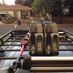 Cute & clever roof rack details.
