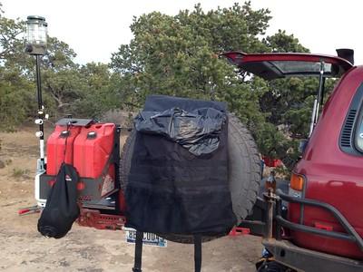 Rear Bumper tire/cans/boxes carryers