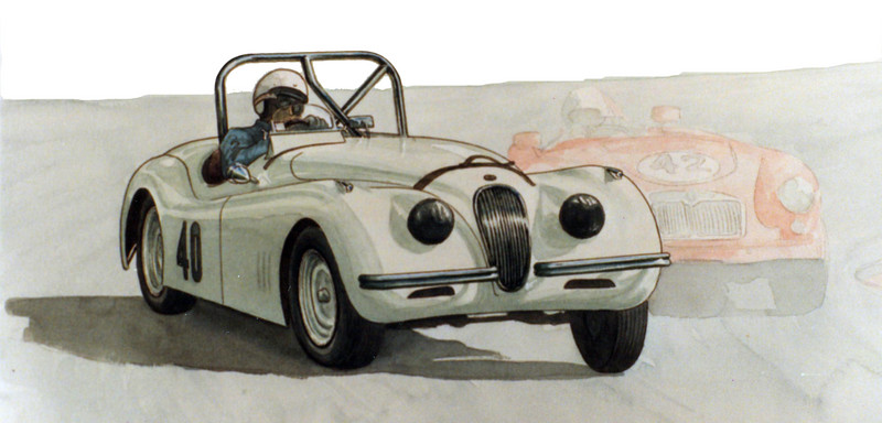 Mal Biddlecombe <br /> Jaguar XK 120