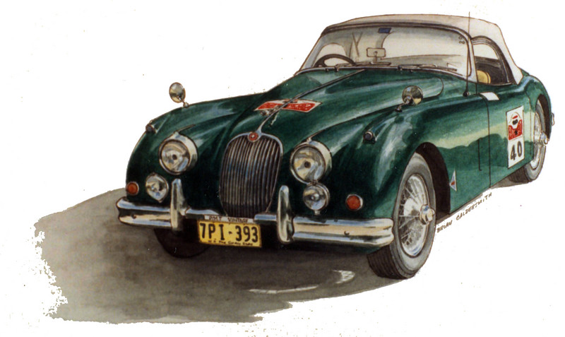 Jaguar XK 150. <br /> Repco Mountain Rally