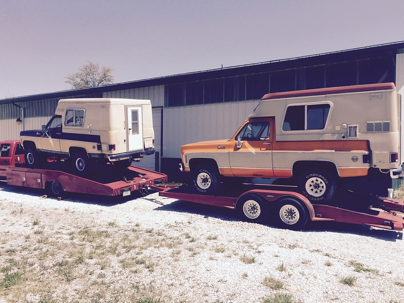 Two 1976 Chevrolet K5 Blazer Chalets (Indianapolis, Indiana to White Bluff, Tennessee)