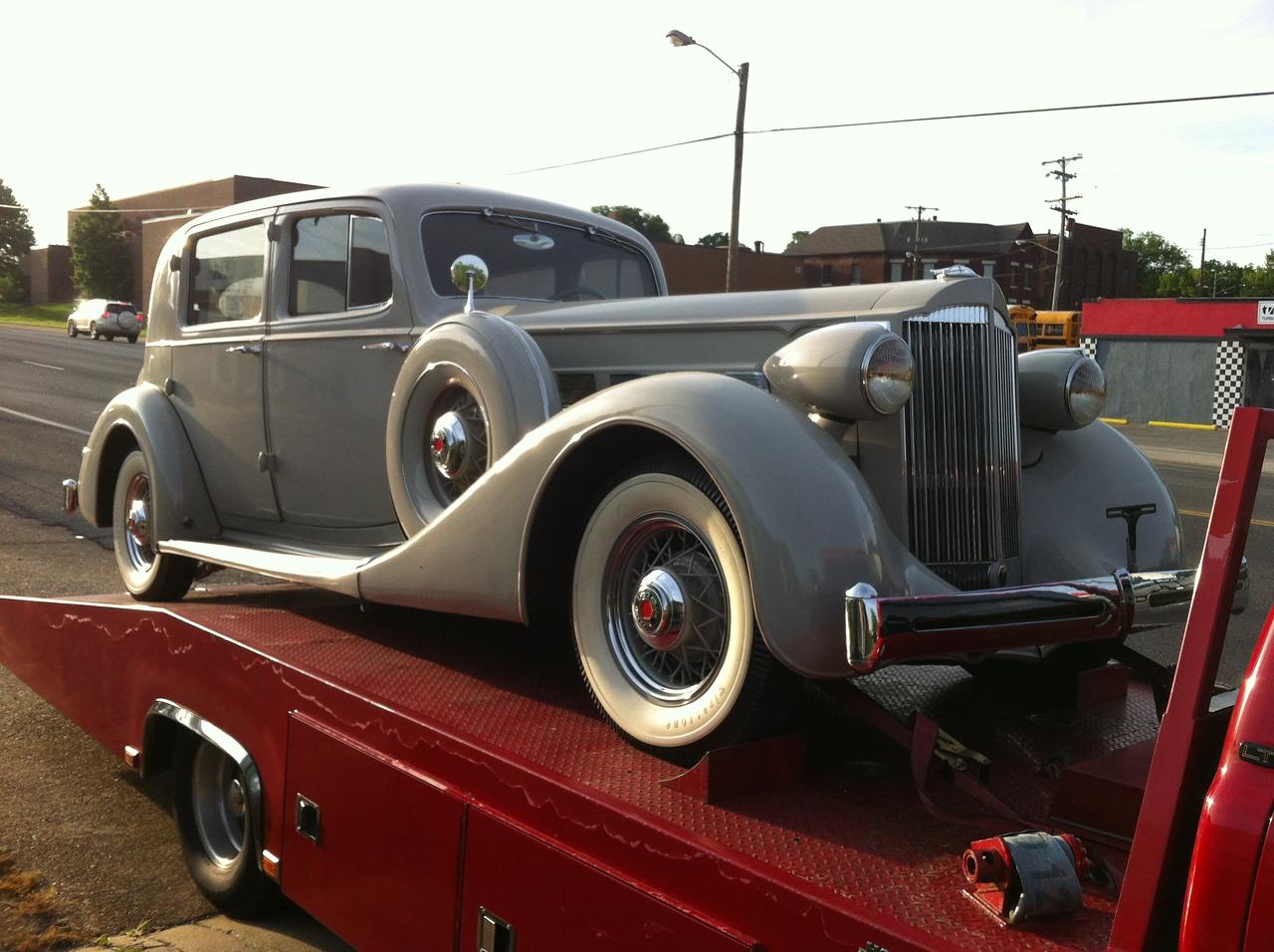 1935 Packard Super Eight Club Sedan (Nashville, Tennessee to New Harmony,  Indiana)