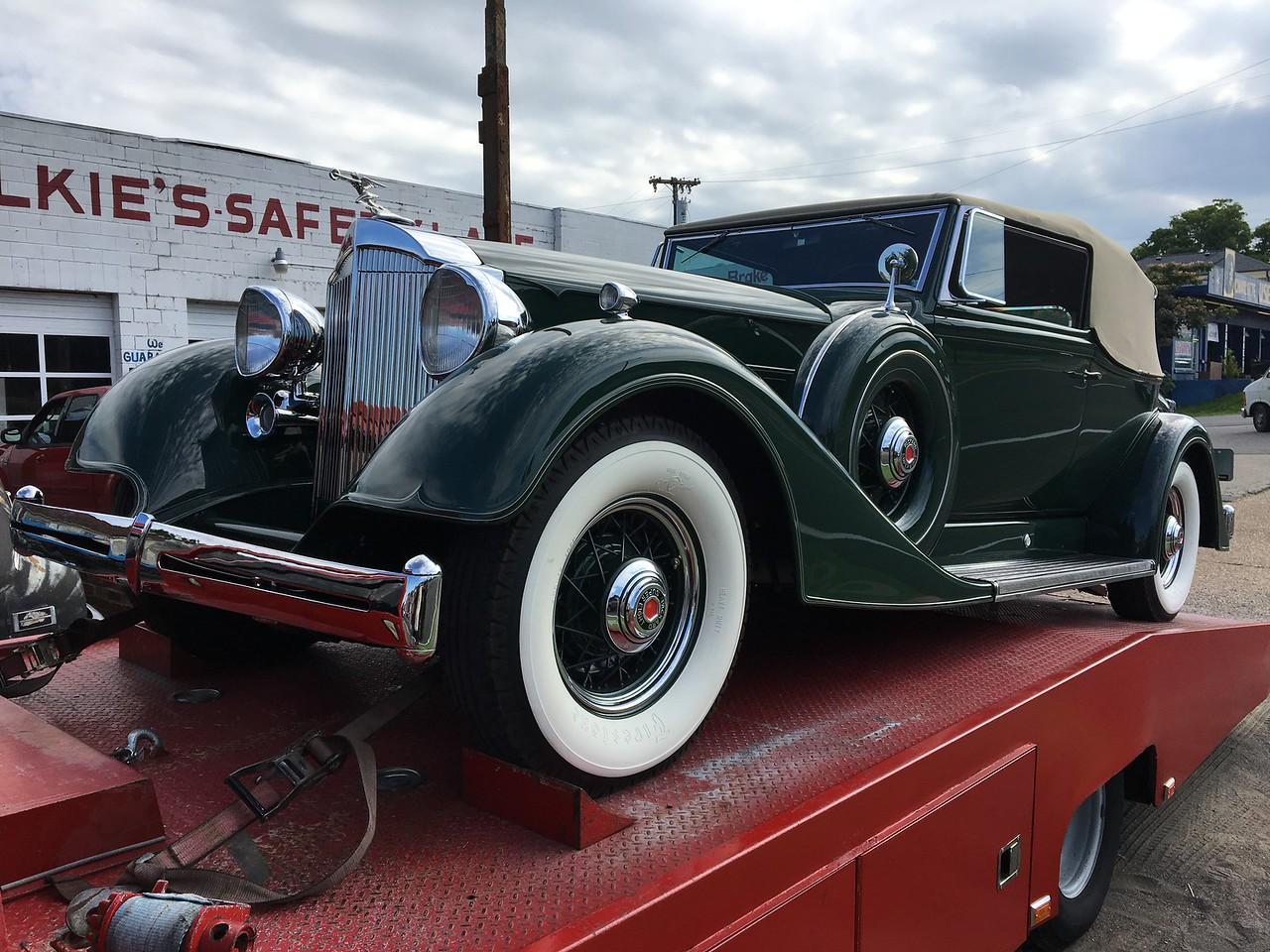 1934 Packard Victoria Super Eight Dietrich (Nashville, Tennessee to Keeneland Concours, Lexington, Kentucky)