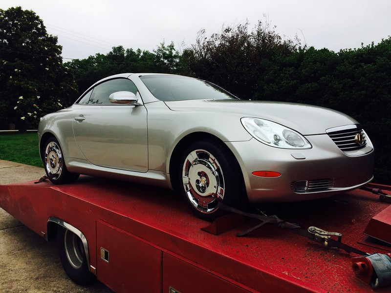 2002 Lexus SC430 Convertible Coupe (Nashville, Tennessee to Greenfield, Tennessee)