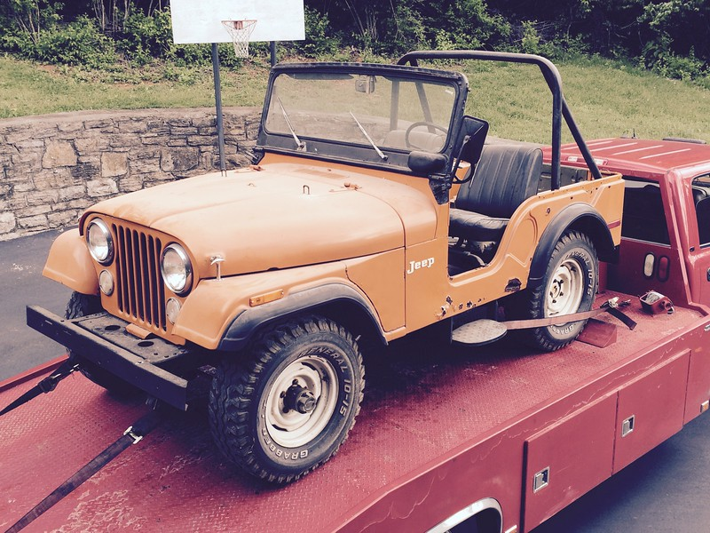 1973 Jeep CJ5 one owner off to be restored by the owner (Bellevue, Tennessee to White Bluff, Tennessee)
