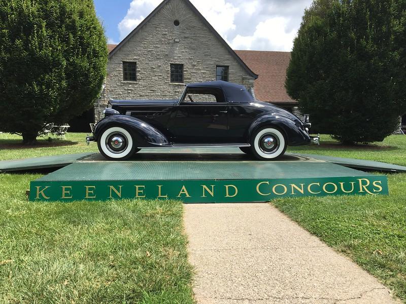 1936 Packard 120 Convertible (Greensburg, Indiana to Keeneland Concours, Lexington, Kentucky)