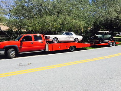 1965 Ford Mustang convertible and 1928 Ford Midel A AR (Destin,Florida to Bradenton, Florida)