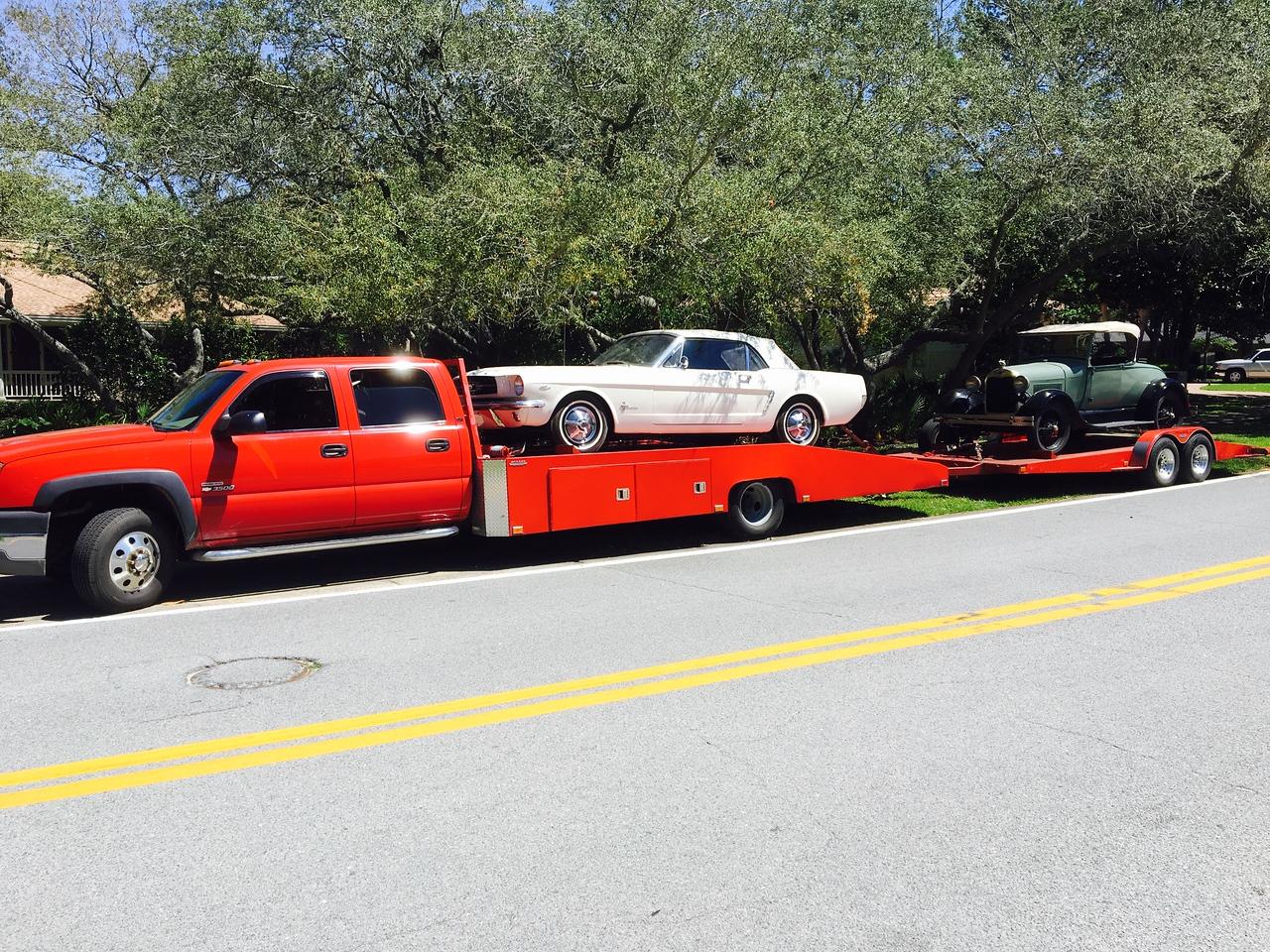 1965 Ford Mustang convertible and 1928 Ford Midel A AR (Destin,Florida to Bradenton, Florida)