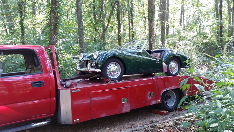 1961 Triumph TR3 (Huntsville, Alabama to Nashville, Tennessee)