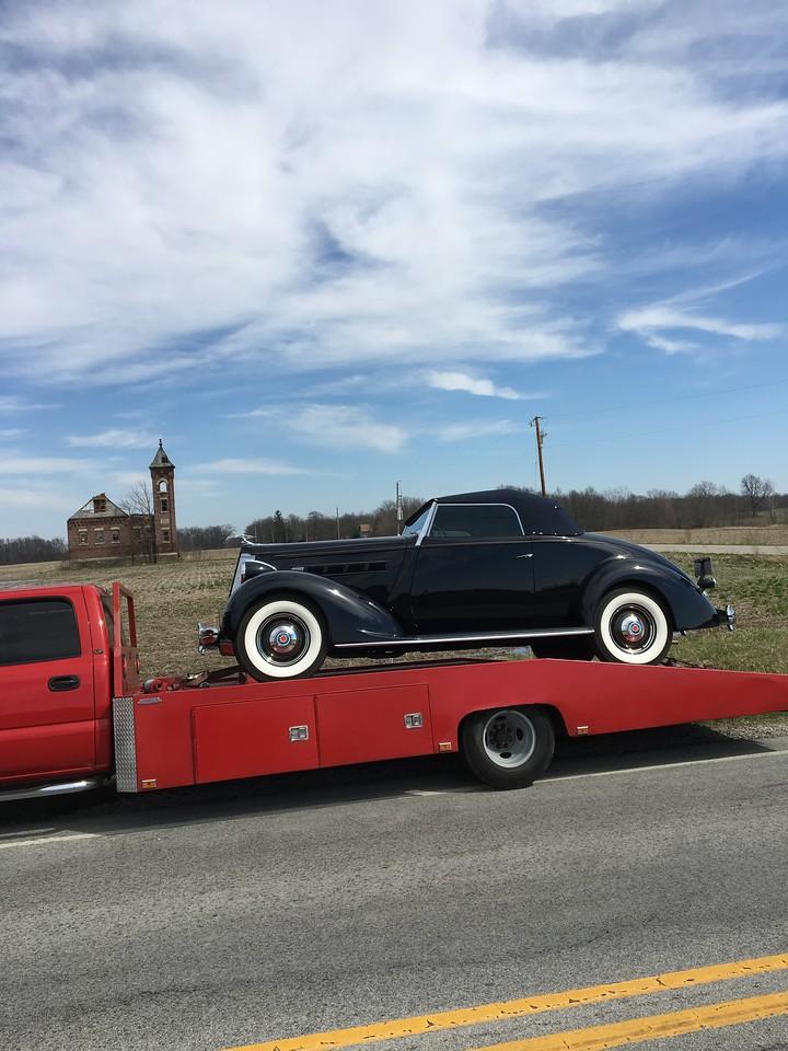 1936 Packard 120 convertible (Homer, Michigan to Greensburg, Indiana)