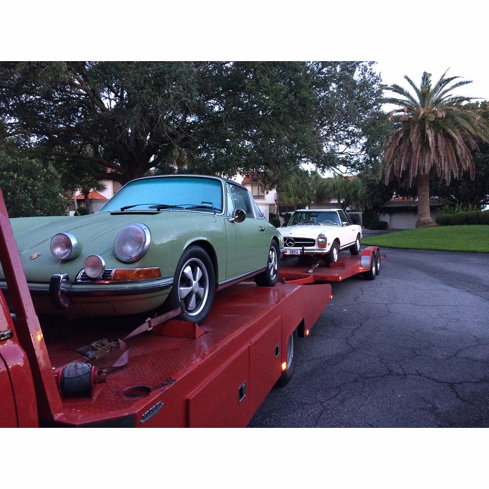 1968 Porsche Sportmatic and 1970 Mercedes Benz 280SL, Sea Island, Georgia to Nashville, Tennessee