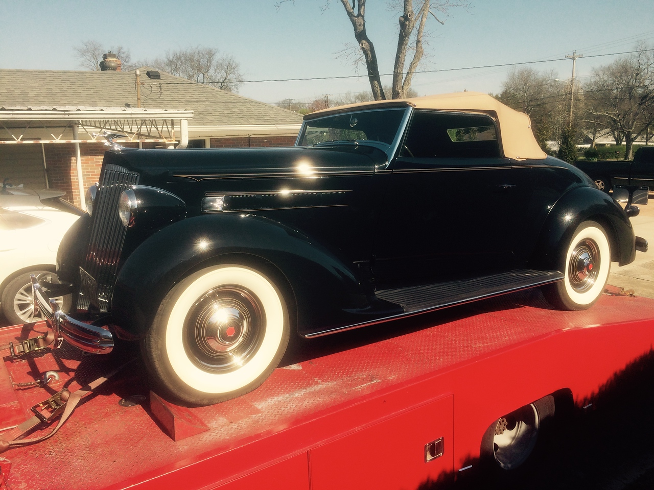 1936 Packard 120 convertible (Nashville, Tennessee to Homer, Michigan )