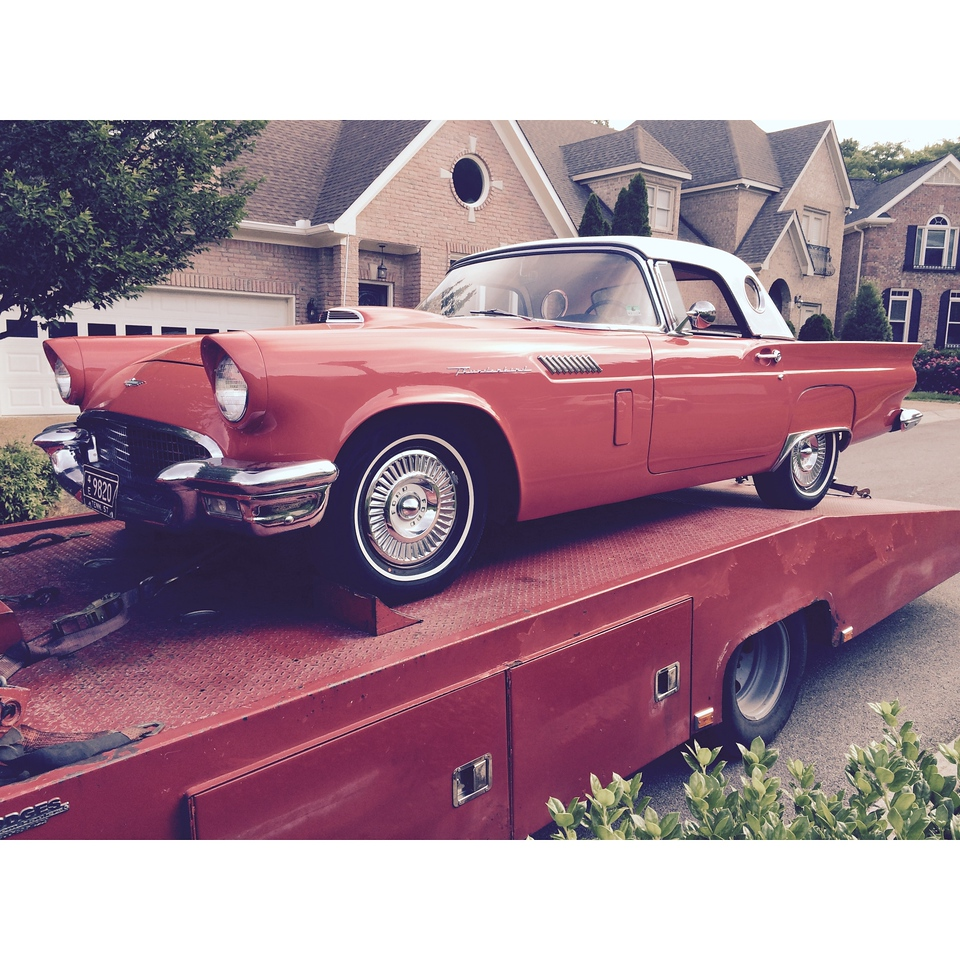 1957 Ford Thunderbird (Brentwood, Tennessee to Rockstar Motorcars, Nashville, Tennessee)