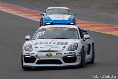 6th GS Chuck Quinton / Cameron Lawrence Muehlner Motorsports America Porsche Cayman GT4
