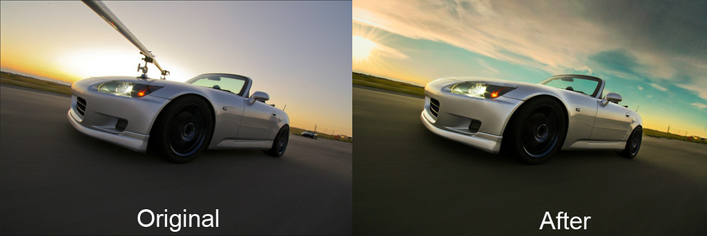 Did some re-editing on an old rig shot. Here's the before & after.
