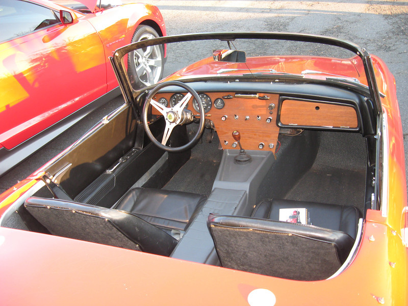 Lotus Elan cockpit.