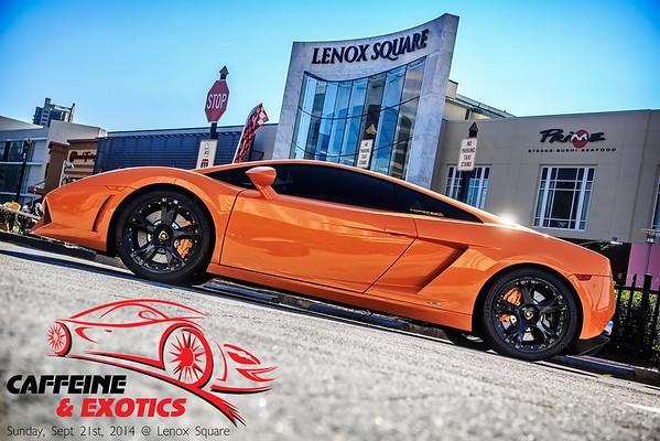 Caffeine and Exotics Auto Event, Sept 21, 2014