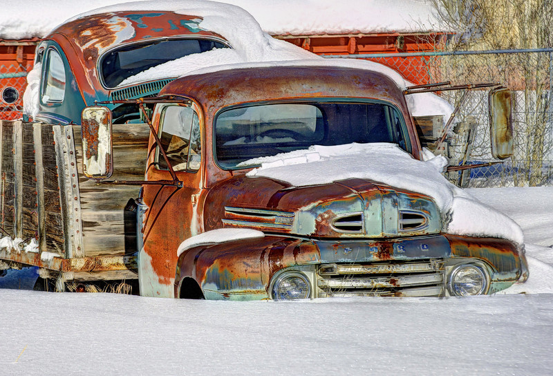 Waiting for the plow