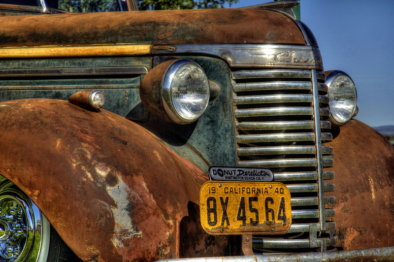 Rusty  Chevy pick up truck