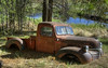 Beaver pond pick up truck